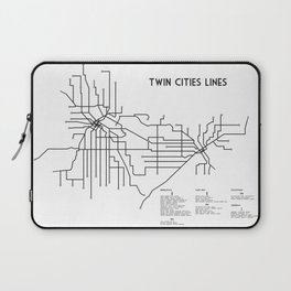 Twin Cities Lines Map Laptop Sleeve