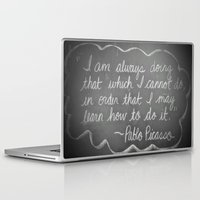 picasso Laptop & iPad Skins featuring Picasso Quote by Brusling
