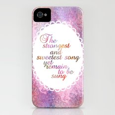 The Sweetest Song Slim Case iPhone (4, 4s)