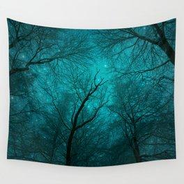 Simply Stare Upward (Dark Winter Sky) Wall Tapestry