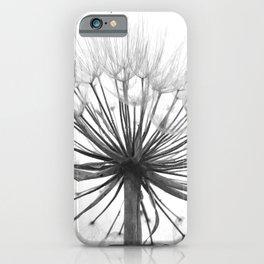 Black and White Dandelion iPhone Case