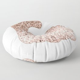 Sparkling rose gold Cheshire Cat Floor Pillow