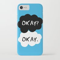 tfios iPhone & iPod Cases featuring TFIOS Okay Clouds by digital detours