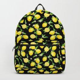 You're the Zest - Lemons on Black Backpack