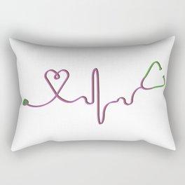 Stethoscope Rectangular Pillow