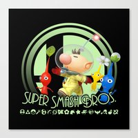 super smash bros Canvas Prints featuring Olimar - Super Smash Bros. by Donkey Inferno