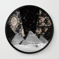 egypt Wall Clocks featuring Egypt by Mrs Araneae