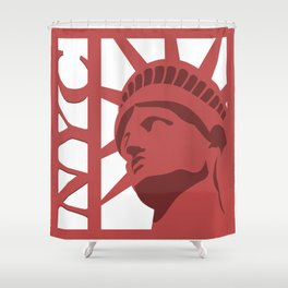 NYC Statue of Liberty Shower Curtain