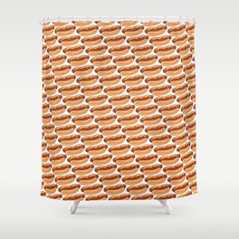 hot dogs pattern Shower Curtain