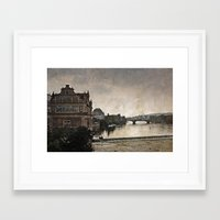 prague Framed Art Prints featuring Prague by ALLY COXON