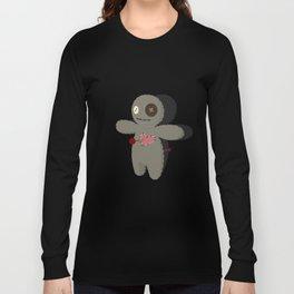Voodoo doll. Cartoon horror elements. Spooky fear trick or treat Long Sleeve T-shirt
