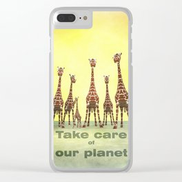 Nature care Clear iPhone Case