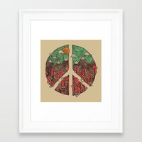 landscape Framed Art Prints featuring Peaceful Landscape by Hector Mansilla