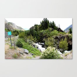 The Turnoff to the Perilous Engineer Pass Road, No. 3 of 5 Canvas Print