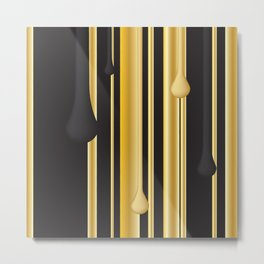 DRIPPING IN GOLD Metal Print