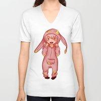 onesie V-neck T-shirts featuring Onesie by Hetty's Art