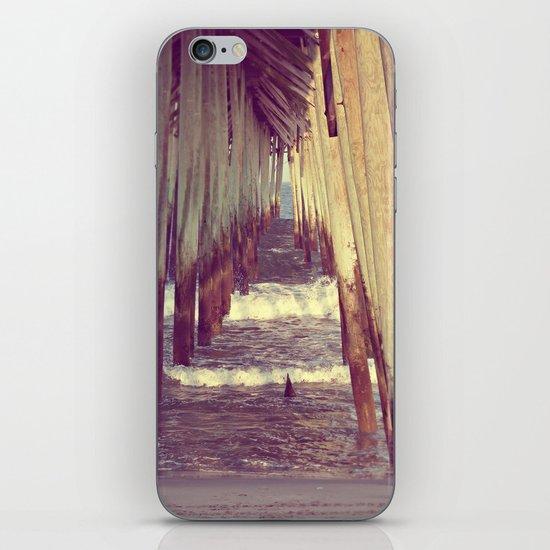 Carolina Beach Pier at Low Tide iPhone & iPod Skin