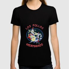 Los pollos hermanos Womens Fitted Tee Black LARGE