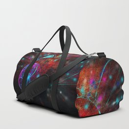 Ammonite emerging from space Duffle Bag