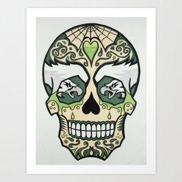Eagles Sugar Skull Art Print