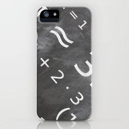 Chalkboard Mathematics Board iPhone Case