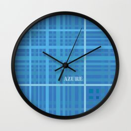 Azure Wall Clock