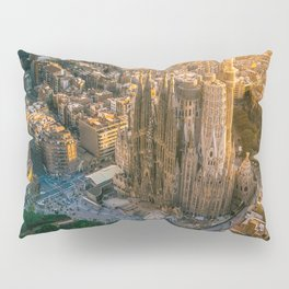 Scale of Sagrada Familia Pillow Sham