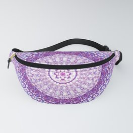 Orchid Tapestry Mandala Fanny Pack