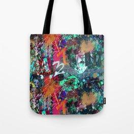 Graffiti and Paint Splatter Tote Bag