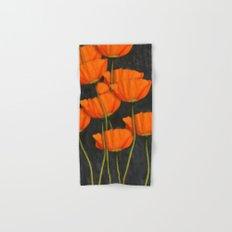 Poppies(orange). Hand & Bath Towel