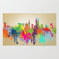 san francisco Area & Throw Rugs featuring San Francisco  by mark ashkenazi