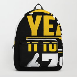 70 Years Of Good Looks Backpack