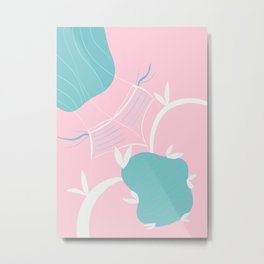 Babes at the Poolside #1 #painting #wall #decor #art #society6 Metal Print