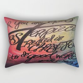 God's Masterpiece Cross Rectangular Pillow
