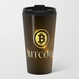 Bitcoin Cryptocurrecny Coin Travel Mug