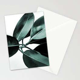 Minimal Rubber Plant Stationery Cards