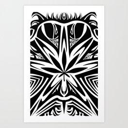 bud  buggin black Art Print