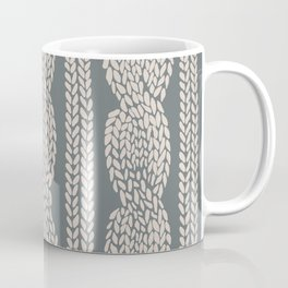 Cable Knit Grey Coffee Mug