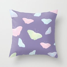 UltraViolet Butterflies Throw Pillow