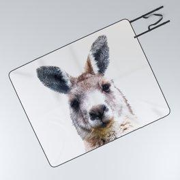 Kangaroo Portrait Picnic Blanket