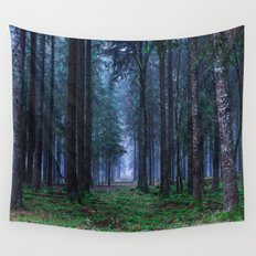 Green Magic Forest Wall Tapestry