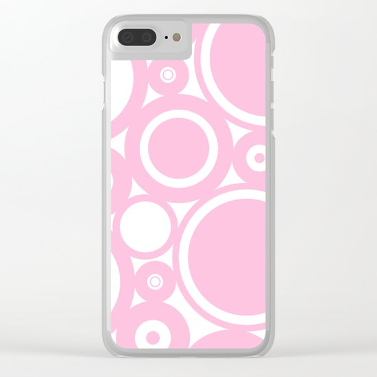 Abstract dots and circles - abstract patterns - pink #Society6 Clear iPhone Case