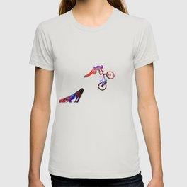 Bmx Trick Off Ramp  Quote Art Design Inspirationa T-shirt