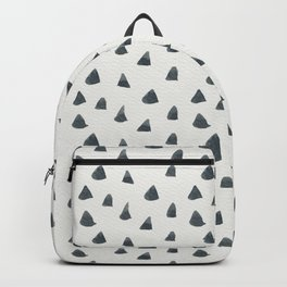 Hand painted black gray watercolor geometrical triangles Backpack