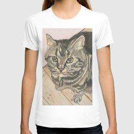 Cat on floor T-shirt