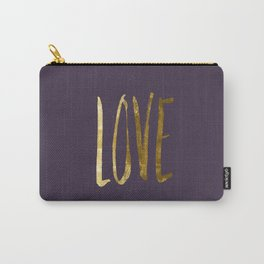 Love —gold Carry-All Pouch