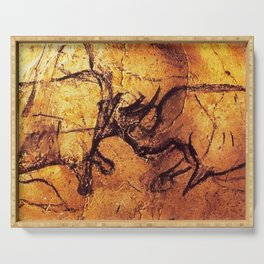 Fighting Rhinos // Chauvet Cave Serving Tray