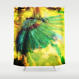 lazy daisy Shower Curtain