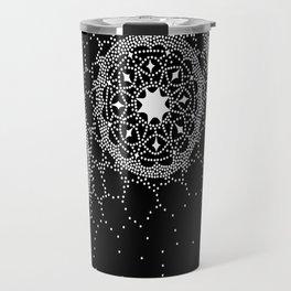 Star Lace Lattice Black Travel Mug