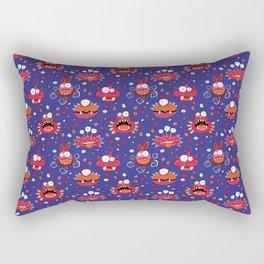 Monster Mash Purple Rectangular Pillow
